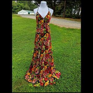 Ecote Lilyhandra Floral Burnout Maxi Dress
